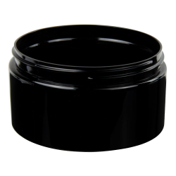 4 oz. Black PET Straight Sided Jar with 70/400 Neck (Cap Sold Separately)