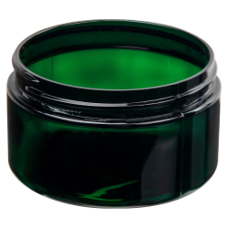 4 oz. Dark Green PET Straight Sided Jar with 70/400 Neck (Cap Sold Separately)