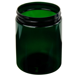 19 oz. Dark Green PET Straight Sided Jar with 89/400 Neck (Cap Sold Separately)
