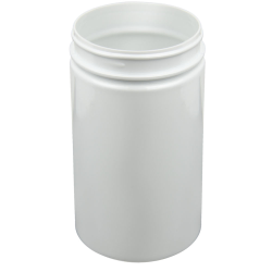 25 oz. White PET Straight Sided Jar with 89/400 Neck (Cap Sold Separately)