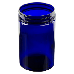 25 oz. Cobalt Blue PET Straight Sided Jar with 89/400 Neck (Cap Sold Separately)