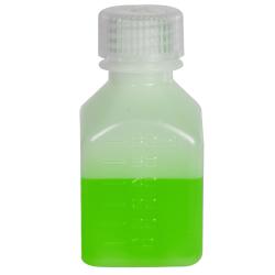 2 oz./60mL Nalgene™ Narrow Mouth Polyethylene Square Bottle with 24mm Cap