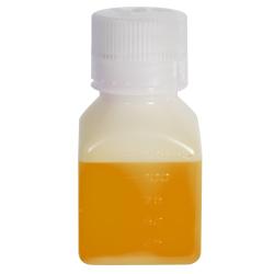 4 oz./125mL Nalgene™ Narrow Mouth Polyethylene Square Bottle with 38/430 Cap