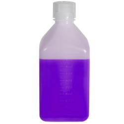 32 oz./1000mL Nalgene™ Narrow Mouth Polyethylene Square Bottle with 38/430 Cap