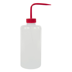 1000mL Narrow Mouth Wash Bottle with 38mm Red Cap