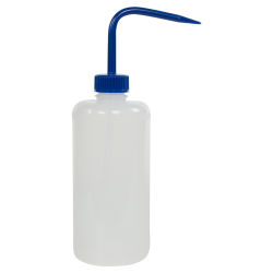 500mL Narrow Mouth Wash Bottle with 28mm Blue Cap