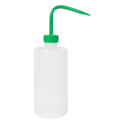 500mL Narrow Mouth Wash Bottle with 28mm Green Cap