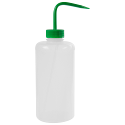 1000mL Narrow Mouth Wash Bottle with 38mm Green Cap