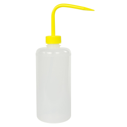 500mL Narrow Mouth Wash Bottle with 28mm Yellow Cap