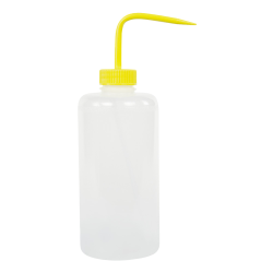 1000mL Narrow Mouth Wash Bottle with 38mm Yellow Cap