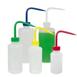 Narrow Mouth Color Coded Wash Bottles