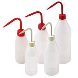 Sloping Shoulder Wash Bottles with Caps