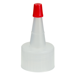 24/410 Natural Yorker Spout Cap with Regular Red Tip
