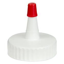 38/400 White Yorker Spout Cap with Regular Red Tip