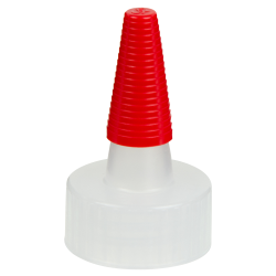 22/400 Natural Yorker Spout Cap with Long Red Tip