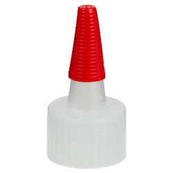 24/410 Natural Yorker Spout Cap with Long Red Tip
