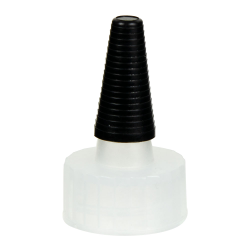 22/400 Natural Yorker Spout Cap with Long Black Tip