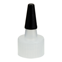 24/410 Natural Yorker Spout Cap with Long Black Tip
