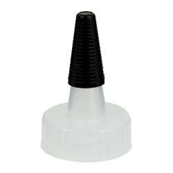 28/400 Natural Yorker Spout Cap with Long Black Tip