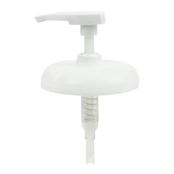 """89/400 White Dome Lock Down Lotion Pump with 3-5/8"""" Dip Tube"""