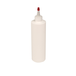 12 oz. White HDPE Cylindrical Sample Bottle with 24/410 White Yorker Cap