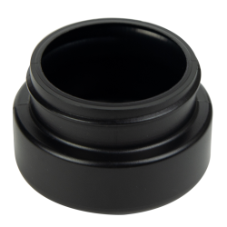 2 oz. Black HDPE Low Profile Jar with 53/400 Neck (Cap Sold Separately)