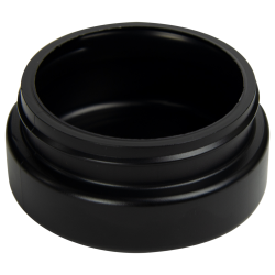 4 oz. Black HDPE Low Profile Jar with 70/400 Neck (Cap Sold Separately)