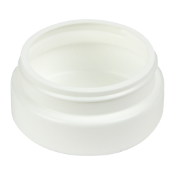 4 oz. White HDPE Low Profile Jar with 70/400 Neck (Cap Sold Separately)