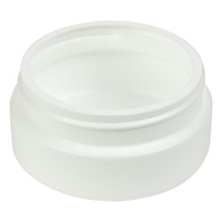 8 oz. White HDPE Low Profile Jar with 89/400 Neck (Cap Sold Separately)