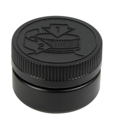 2 oz. Black HDPE Low Profile Jar with Black 53/400 CRC Cap