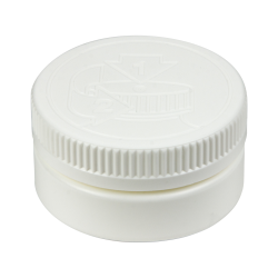 4 oz. White HDPE Low Profile Jar with White 70/400 CRC Cap