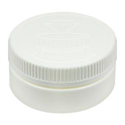 8 oz. White HDPE Low Profile Jar with White 89/400 CRC Cap