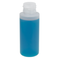 2 oz. Natural HDPE Cylindrical Sample Bottle with 24/410 Neck (Cap Sold Separately)
