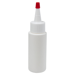 2 oz. White HDPE Cylindrical Sample Bottle with 24/410 White Yorker Cap