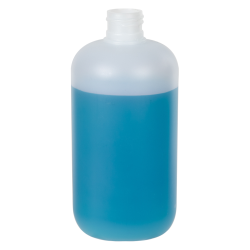 12 oz. HDPE Natural Boston Round Bottle with 24/410 Neck (Cap Sold Separately)