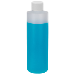 16 oz. Natural HDPE Cylindrical Sample Bottle with 24/410 Plain Cap