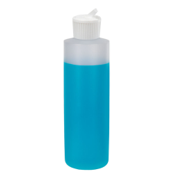 16 oz. Natural HDPE Cylindrical Sample Bottle with 24/410 Flip-Top Cap