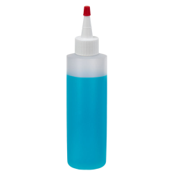 16 oz. Natural HDPE Cylindrical Sample Bottle with 24/410 Natural Yorker Cap
