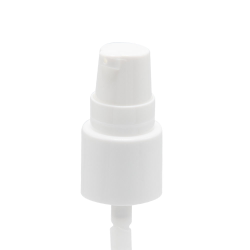 "18/415 White Smooth Treatment Pump - 3-3/4"" Dip Tube & 130mcl Output"