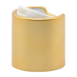 24/410 Brushed Gold & White Disc Dispensing Cap