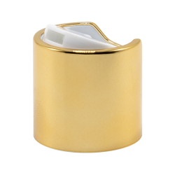 28/410 Gold & White Disc Dispensing Cap