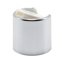 28/410 Silver & White Disc Dispensing Cap