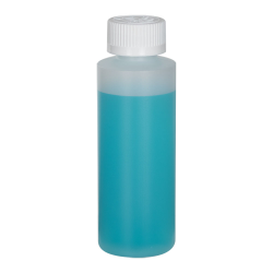 4 oz. Translucent Cylindrical Sample Bottle with 24/400 CRC Cap