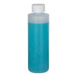 8 oz. Natural HDPE Cylindrical Sample Bottle with 24/400 CRC Cap