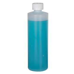 12 oz. Natural HDPE Cylindrical Sample Bottle with 24/400 CRC Cap