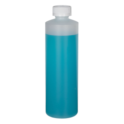 16 oz. Natural HDPE Cylindrical Sample Bottle with 28/400 CRC Cap