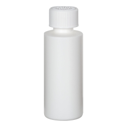 2 oz. White HDPE Cylindrical Sample Bottle with 20/400 CRC Cap