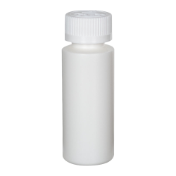 2 oz. White HDPE Cylindrical Sample Bottle with 24/400 CRC Cap