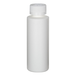 4 oz. White HDPE Cylindrical Sample Bottle with 24/400 CRC Cap