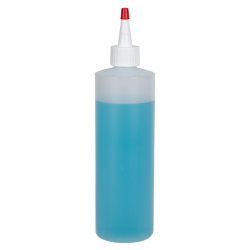 12 oz. Natural HDPE Cylindrical Sample Bottle with 24/410 White Yorker Cap